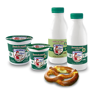 Covalact de Țară specialties with goat milk
