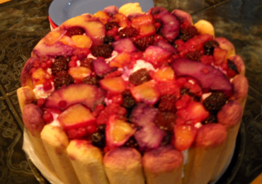 Tort cu branza vaci Covalact de tara si fructe
