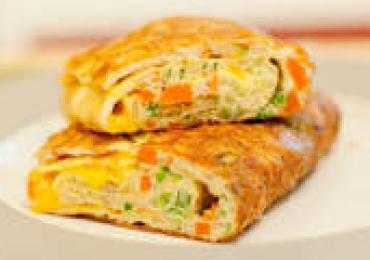 omleta cu oua si salam