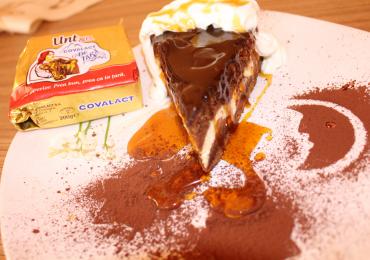 Pasca cu ciocolata  si branza
