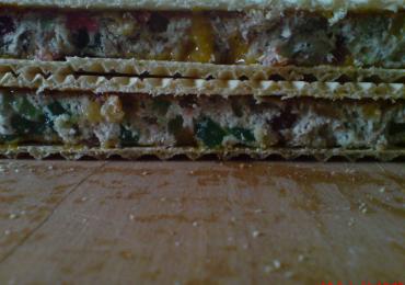 Prajitura cu foaie de napolitana