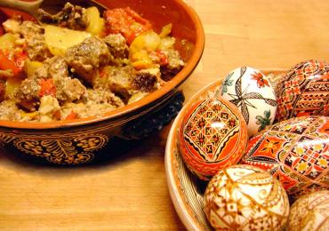 Miel cu legume la cuptor şi Caşcaval Dalia Covalact de Țară