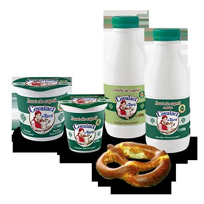 Covalact de Țară specialties with goat milk