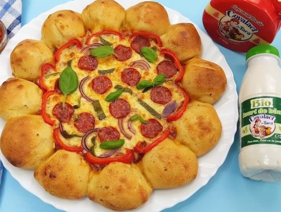 """Pizza """"Soare"""" – fara drojdie"""